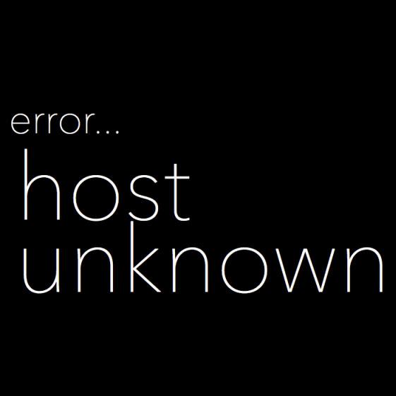 Error_Host_Unkown